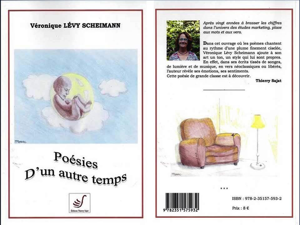 couverture recto et verso Commandez sans plus tarder le recueil de poésie écrit par Veronique Lévy Scheimann !